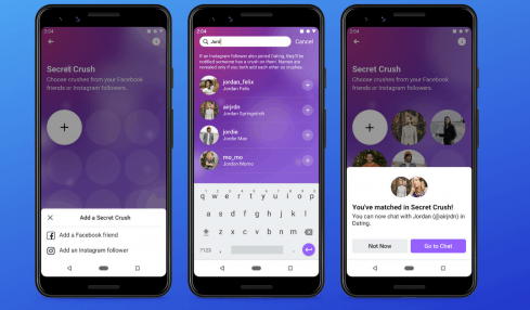 Facebook Dating app Secret Crush