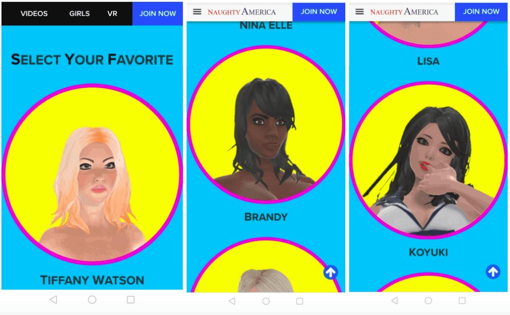 Naughty America AR App