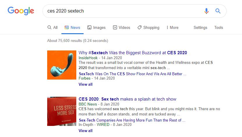 ces 2020 sextech