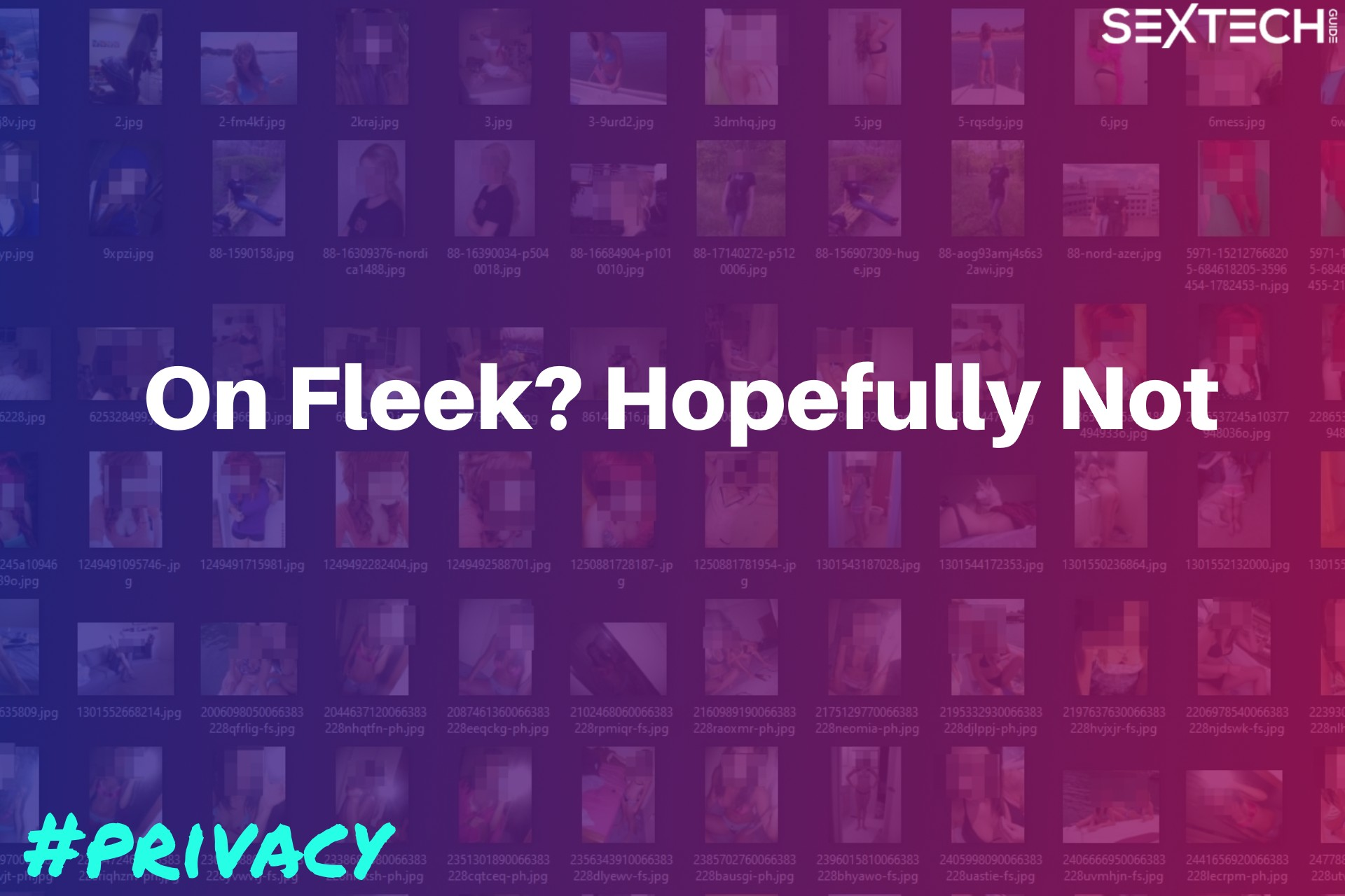 Fleek user images leaked