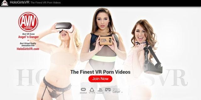 HologirlsVR- VR Porn homepage Screenshot