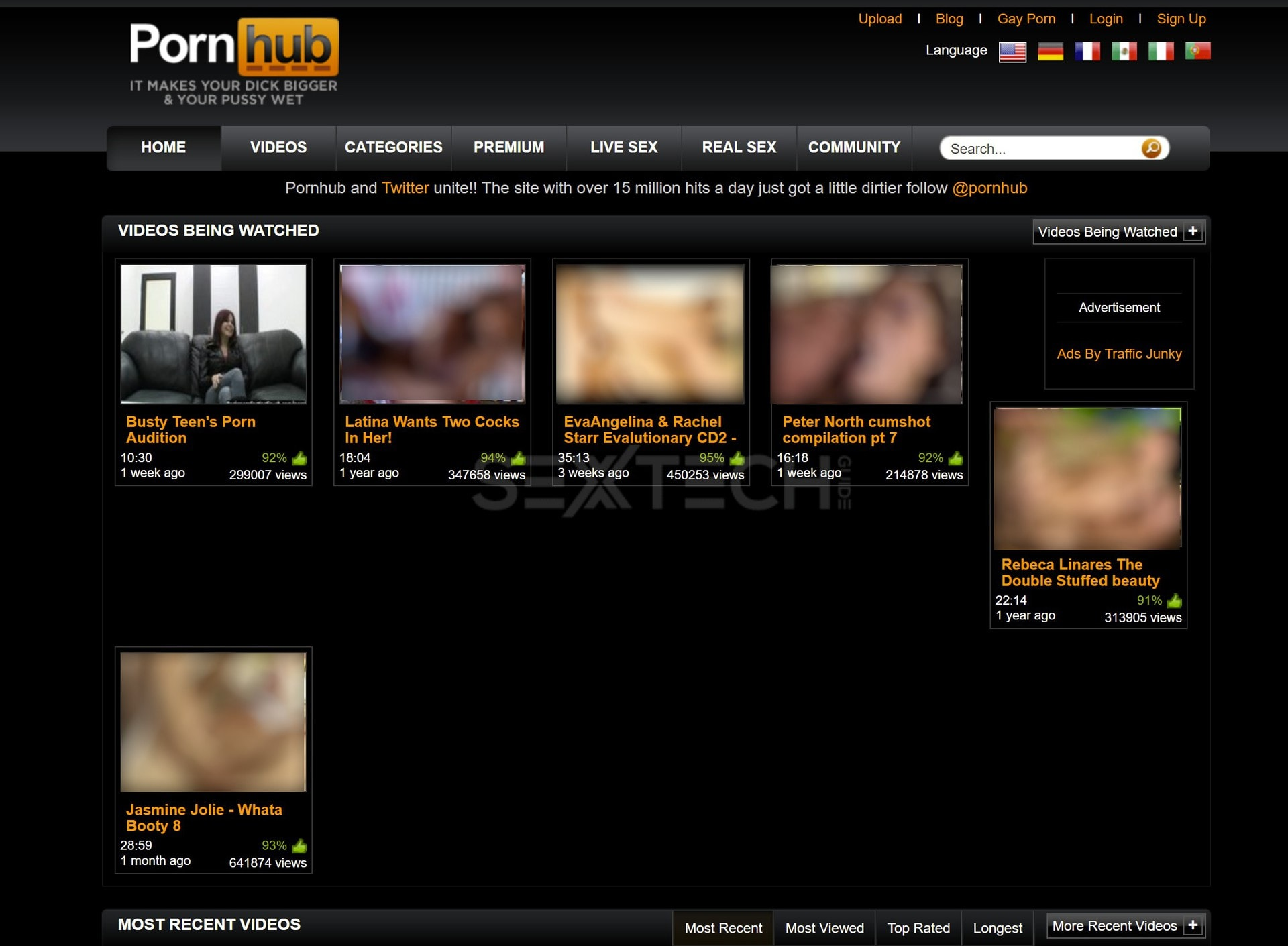 Pornhub has largely looked the same since around 2010