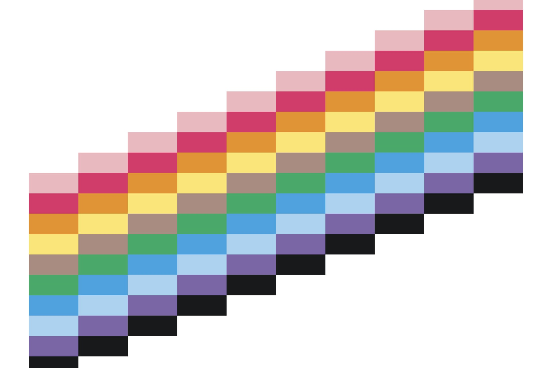 Trans & Gay Pride flags combined