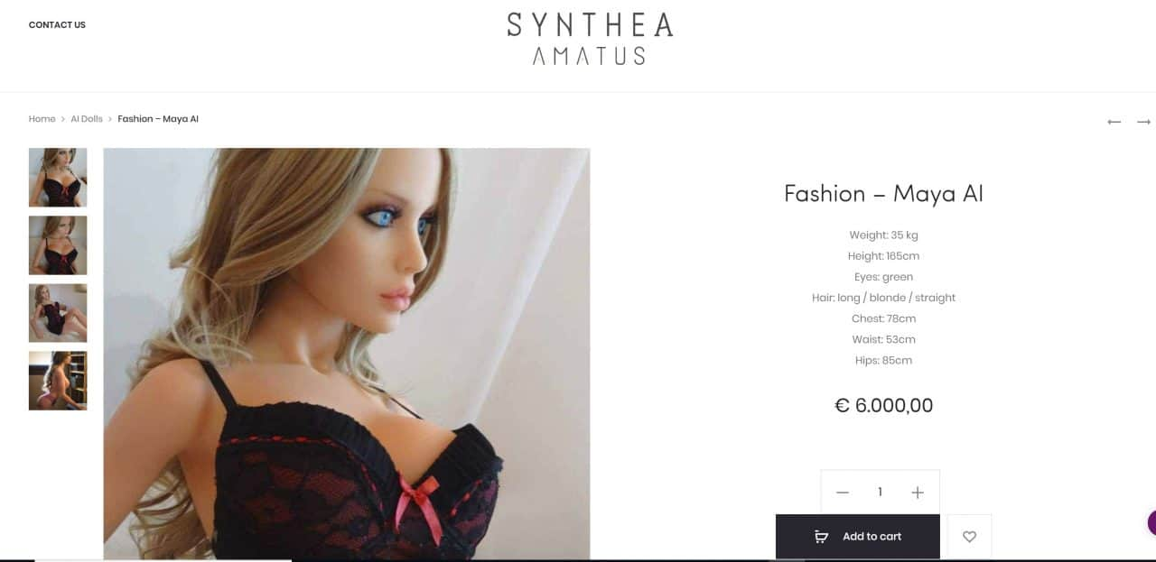 Samantha Sex Robot by Syntea Amateus
