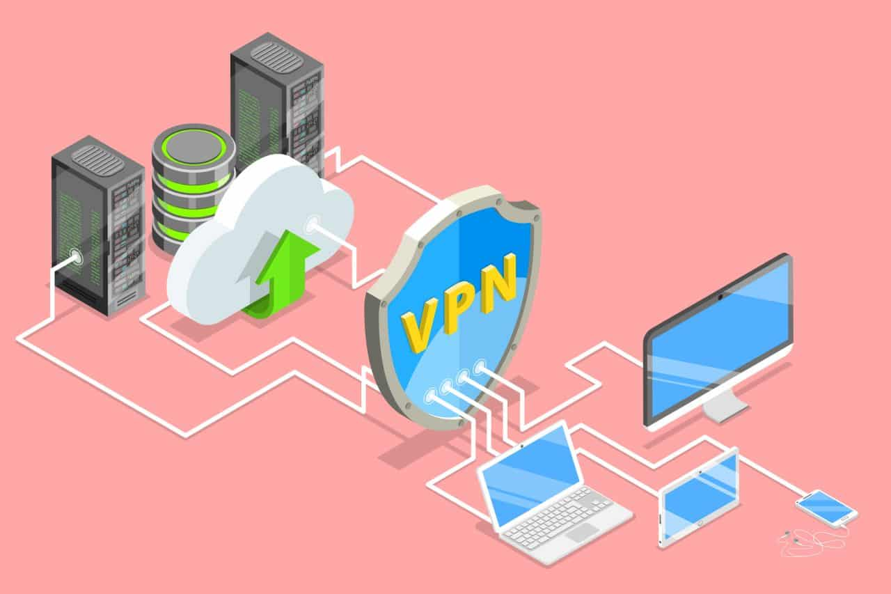 VPN security illustration