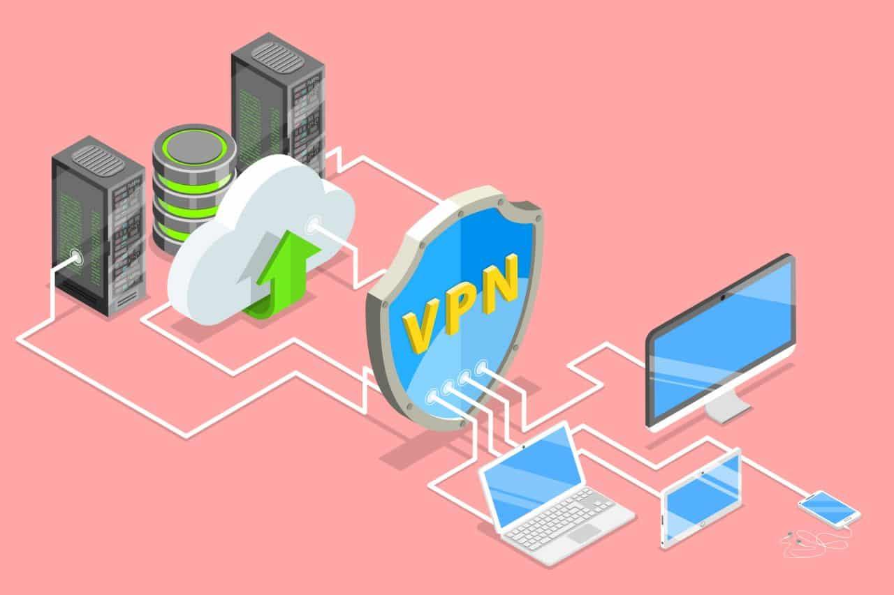 VPN security illustration